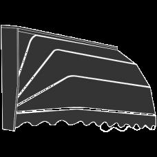 Grenenhouten markies 2800*1150